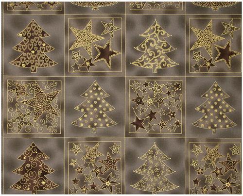 Fab:Enjoy Christmas-Star/Tree Blocks Grey