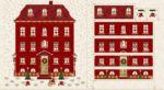 Magic Christmas Calendar House Red Gold