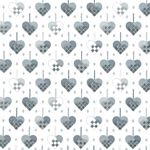 Christmas Wonders White Silver Hearts 4596 102