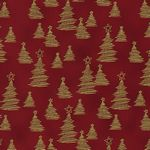 Christmas Wonders -  Red and Gold Christmas Trees - by Stof Fabrics