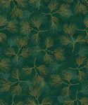 STOF- Magic Christmas Pine Branches Green With Gold