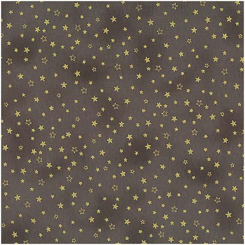 Christmas Greetings-Stars Gold/Taupe Fab:Christmas Greetings-Stars Gold/Taupe