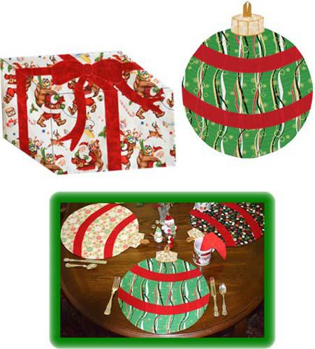 Table Presence Festive Holiday/ placemats