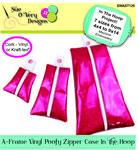 A-Frame Vinyl Poofy Zipper Case ITH Machine Emb