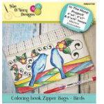 Coloring book Zipper Bags - Birds