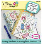 Sewing Notebook Coloring Book Covers - ITH