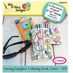 Sewing Eyeglass Coloring Book Cases - ITH