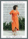 Charli Anne Wrap Dress Pattern by Sew to Grow