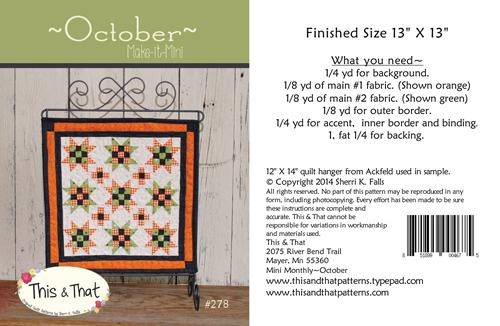 October Make It Mini Pattern by This & That^ +