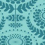F-CB-TLD-LAZ-02  Tilda Fabrics - LAZY DAYS-02 Phoebe Emerald