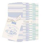 Tea Towel Basics Fat Quarter Bundle - Blue Teal