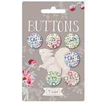 Tilda Woodland Buttons 18mm .72 Inch 6 pcs