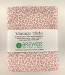 Vintage Tilda Old Rose Fat 1/4 Bundle
