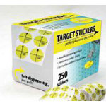 Target Stickers Pack, 250 roll