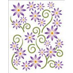 Asters Violet Printed on Clear-Tattoo Elementz