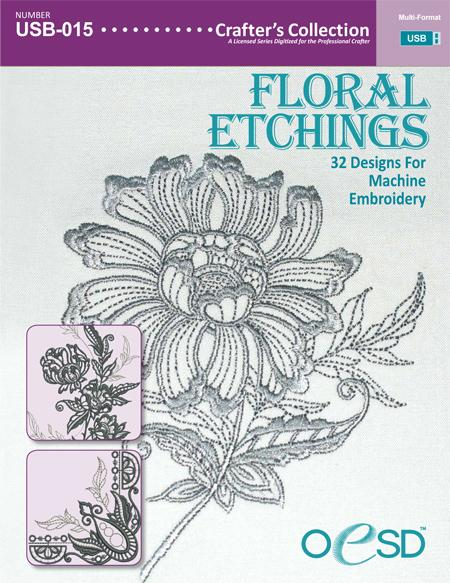 Floral Etchings USB
