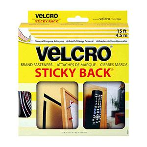 Velcro Sticky 3/4in Loop Black Per Inch