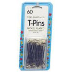 T-Pins 1-3/4in 60pkg 6/box