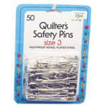 Quilters Safety Pins Sz3 6/box