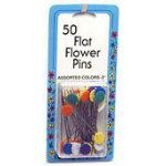 Flat Flower Pins 50ct