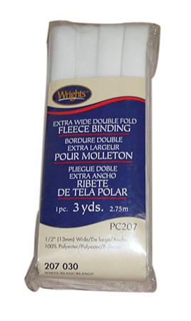 Extra Wide Double Fold Fleece Binding Blue