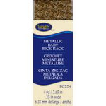 Baby Metallic Rick Rack 1/4inx4yds Gold