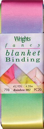 Printed Blanket Binding Striped Rainbw -  4 3/4 yds.