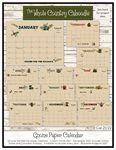 Gnome Paper Calendar June 2021-December 2022