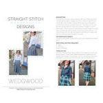 Pattern Wedgwood Skirt Straight Stitch Design