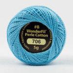 Eleganza 8wt 5-Gram Solid Perle Cotton Ball 42yd Maya Blue
