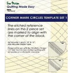 Corner Mark Circles Template Set 2 - Low Shank - WT-CMC2-LS