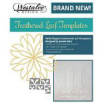 5pc Feathered Leaf Template Set - Low Shank 3mm