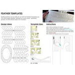 Feather Template Set 4pc Low Shank 3mm