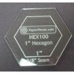 Hexagon 1in Acrylic Fabric Cutting Template