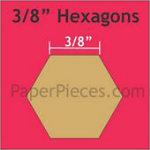 3/8 Hexagons - 200 Pieces