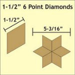 6pt Diamond Papers 1-1/2in 75pc