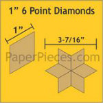 6 Point Diamond Papers 1in 75 pcs/pkg