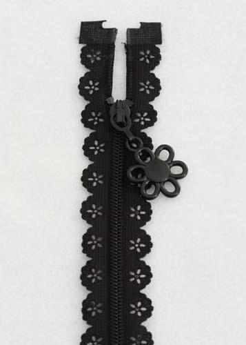 14 Zipper, Black Lace