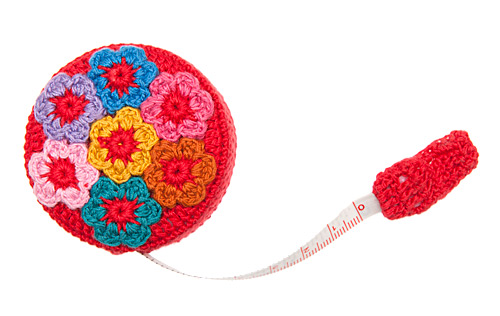 Crochet Floral Tape Measure