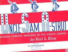 UNCLE SAM A STRUT BAND BOOK BARITONE BC KING