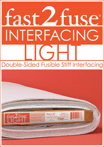 fast2fuse LIGHT Interfacing Bolt, 20 x 10 yards: Double-Sided Fusible Stiff Int...