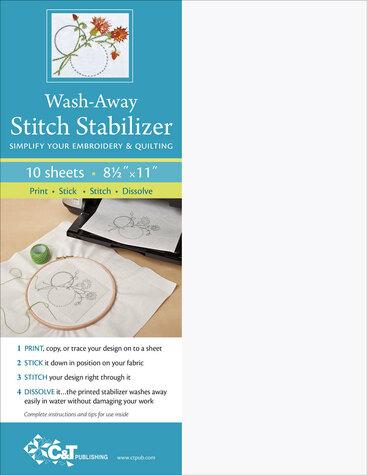 Wash-away Stitch Stabilizer - C&T 10sheets
