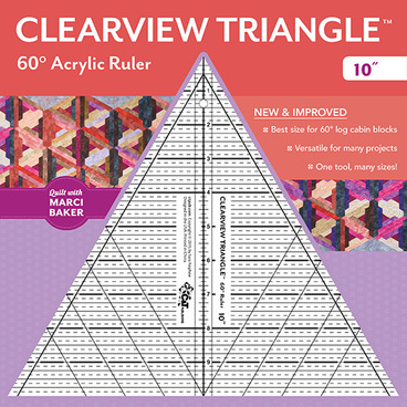 Clearview Triangle 60 Acrylic Ruler 10