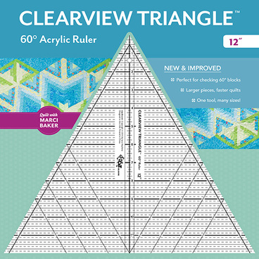Clearview Triangle 60 Acrylic Ruler 12 from Quilt by Marci Baker