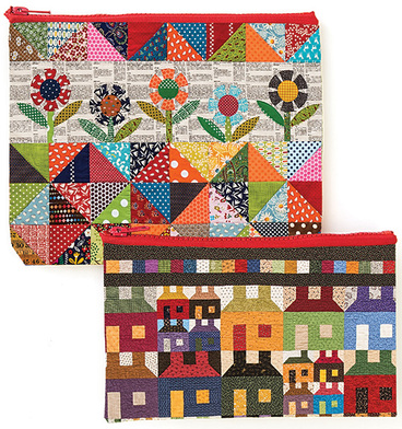Scrap Quilt Secrets Eco Pouch Set featuring designs by Diane D
