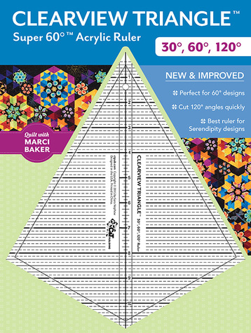 Clearview Triangle Super 60 Acrylic Ruler from Quilt with Marci Baker designed ...