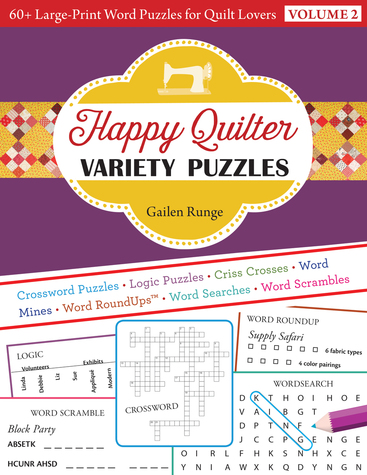 Happy Quilter Variety Puzzles-Volume 2