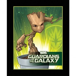 Baby Groot Panel in Green