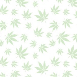 Leaf in White Flannel  *Glow in the Dark