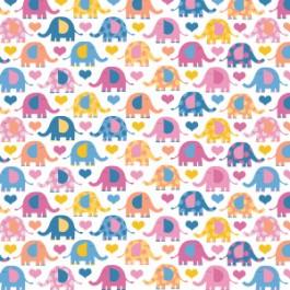 Elephants in Bright Pink 21179912B